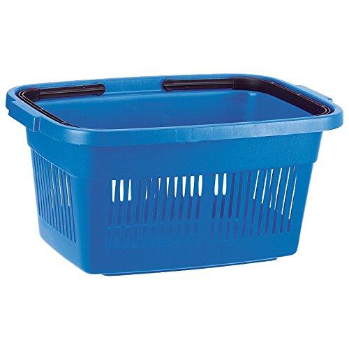 Curver 02686-287-00 Einkaufskorb mit Henkel, blau / schwarz