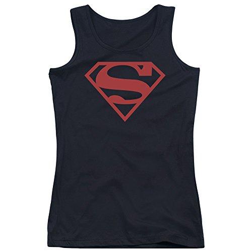 Superman - Débardeur Bouclier rouge sur fond noir des jeunes femmes - Black