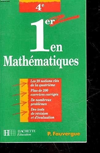 1er en mathématiques, 4e