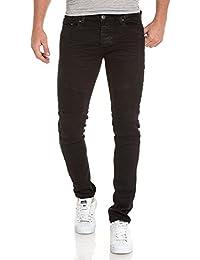 BLZ jeans - Jean noir homme slim nervuré