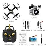 TAOtTAO JJRC H68 Weitwinkelobjektiv 720P HD Kamera Quadcopter RC Drone Wifi FPV 1800 Mah (Schwarz)