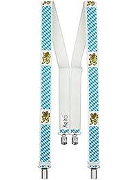 XEIRA - Bretelles - Homme Multicolore Bigarré Taille unique -  Blanc - XXXL taille - 140cm