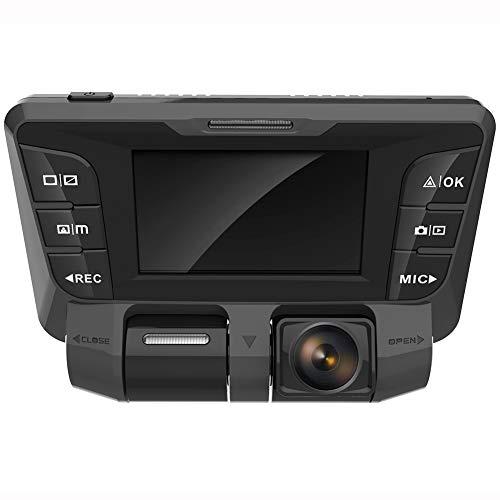 4K Ultra HD WIFI 340° 2,7 Inch Dash Cam per Auto,Anteriore Posteriore Doppia Telecamera Dashcam Auto per Monitoraggio Atti Vandalici con Collision Sensor Monitor di Parcheggio e Rilevatore Movimento