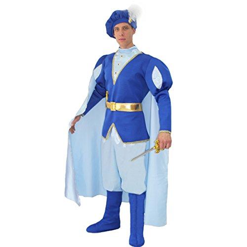 Pegasus Vestito Costume Maschera di Carnevale Adulti Principe Azzurro - Taglia XL - 52/54 Uomo