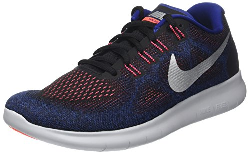 best website a7f9c 73928 NIKE Herren Free RN 2017 Laufschuhe, Mehrfarbig (Black hot Punch deep Royal
