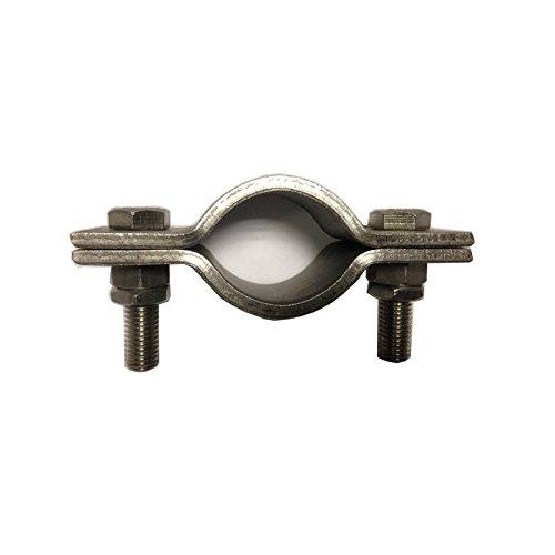 Heavy Duty 2-Bolzen Pipe Clip. 92mm ID (80mm NB/88,9mm OD Rohr) T304Edelstahl Größe: 1Stück -