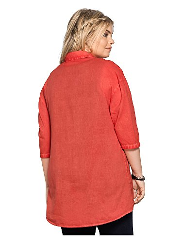sheego Casual Femmes Blouse Grandes tailles 100 % coton Fraise