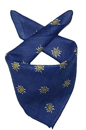 Edelnice Trachtenmode Edelnice Trachtenmode Trachten Halstuch aus Baumwolle viele (blau)