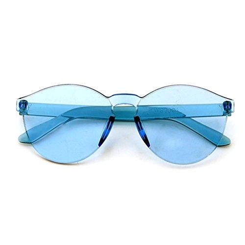 Lidahaotin Kinder Randlos Color Film Sonnenbrille Kinder Anti UV Oval Frame Sonnenbrillen Junge Mädchen UV400 Schutz Brillen Brillen