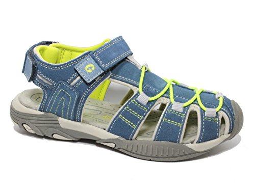 Greenies 160314 sandales pour enfant Bleu - jeans/grau