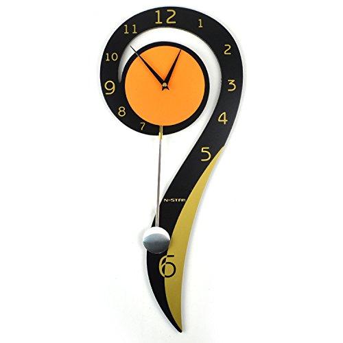Wohnzimmer Schwingen (Merken Sie Anmerkungen Idyllische kreative stumme Schwingen-Uhren Moderne Wohnzimmer-hängende Tabelle Nette personifizierte Wand-Taktgeber-Dekoration)
