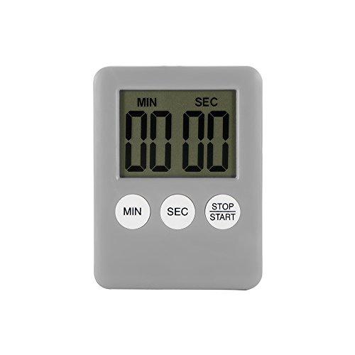 Houkiper Digital LCD Bildschirm Küche Timer Square Kochen Timer Countdown Countdown Alarm mit Magnet (Silber)