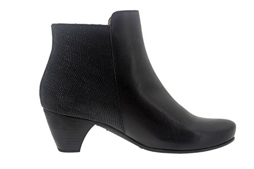 Chaussure femme confort en cuir Piesanto 7880 bottine casual comfortables amples Negro/Marino
