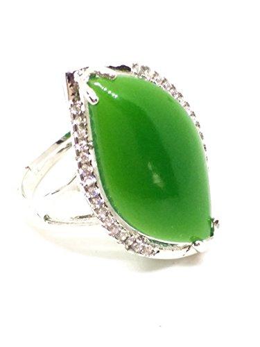 Für Frauen Jade-schmuck (925Silber Natur 925Jade Ring Jaspis Edelstein)