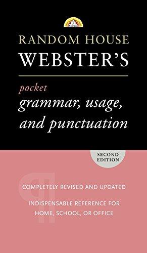 Random House Webster's Pocket Grammar, Usage, and Punctuation: Second Edition (Pocket Reference Guides) (Websters Wörterbuch Großdruck)