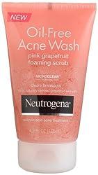 Neutrogena Oil-Free Acne Wash Foaming Scrub Pink Grapefruit 4.2 Ounce (Pack of 3)