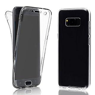 EximMobile 360° Full Handyhülle für Sony Xperia Z5 Compact | Case für vorne und hinten | Silikon Schutzhülle | Handytasche mit beidseitigem Schutz | Cover in transparent | Handy Tasche Etui Hülle