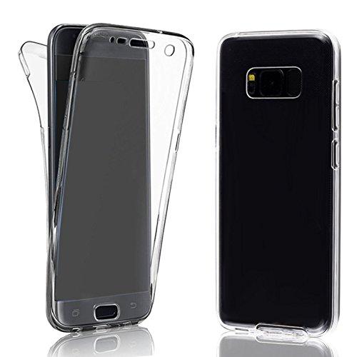 EximMobile 360° Full Handyhülle für Motorola Moto X Style | Case für vorne und hinten | Silikon Schutzhülle | Handytasche mit beidseitigem Schutz | Cover in transparent | Handy Tasche Etui Hülle