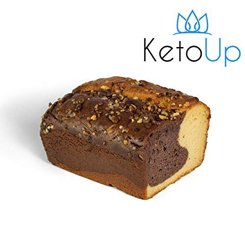 KetoUp: Low carb Marmorkuchen - Ketogene und Low Carb Ernährung | enthält maximal 2,2 % Kohlenhydrate | 420 Gramm (Frische Lieferung Diät)