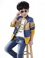 BYCR Boys' Three Colors Fashion Long Sleeve Cotton Blazer Jacket No. 71422192 (140 ( fit height 130-140cm ), blue)