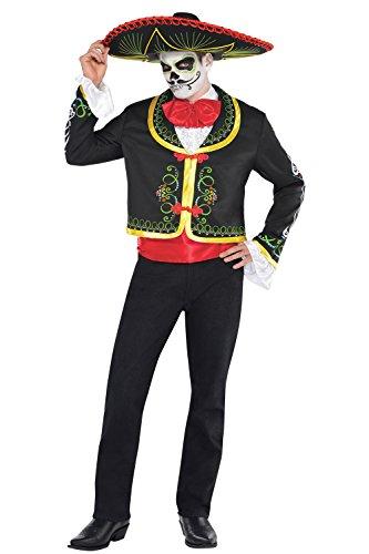 Casual Sombrero (M L/Herren-Day Of The Dead-Kissen Senor Kostüm Halloween Kostüm Outfit)