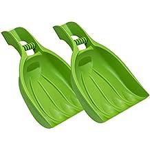 Laubsammler grün Kunststoff Handschaufel Laubkralle Rechen Laubschaufel