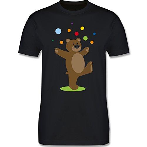 Sonstige Tiere - Kinder-Motiv Bär - XXL - Schwarz - L190 - Herren T-Shirt Rundhals