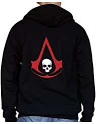 Assassin's Creed IV: Black Flag - Sudadera con capucha y cremallera - Negra