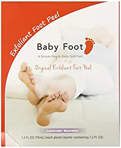 Baby Foot Exfoliant Foot Peel Lavender Scent 2.4 Fl OZ (70mL) - Pack of 2. by Babyfoot