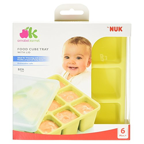 NUK Food Cube Tray with Lid for Freezing Baby Food | 6 Months+ | Dishwasher Safe | BPA Free