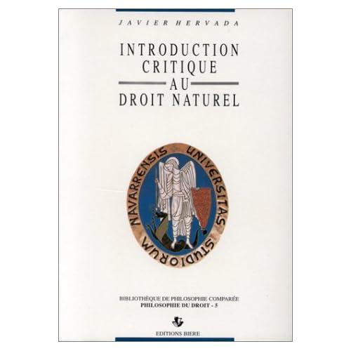 Introduction critique au droit naturel
