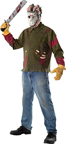 Freitag der 13. Jason Voorhees Kostüm für Herren, Größe:XL
