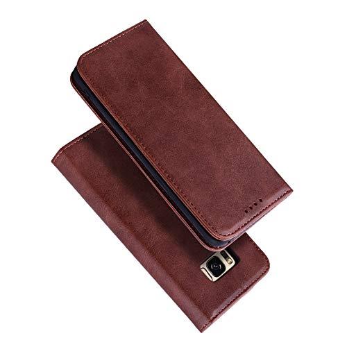 Radoo Galaxy S8 Plus Hülle, Premium PU Leder Handyhülle Klappetui Flip Cover Tasche Etui Brieftasche Lederbrieftasche Schutzhülle für Samsung Galaxy S8 Plus (Braun) (Rädern Auf Magnet)