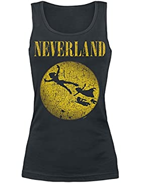 Peter Pan Tinkerbell - Neverland Top Mujer Negro