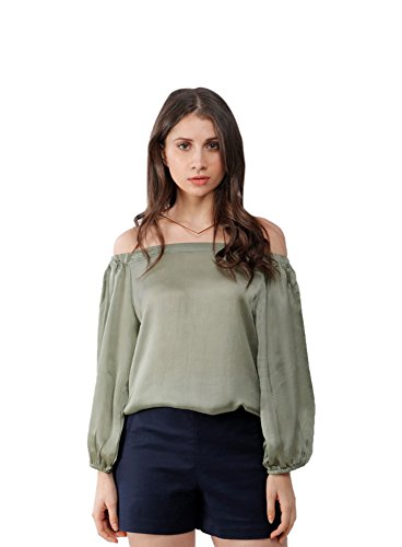 Alex Twenteen Women's Top (AT3053AS1, Green, Small)