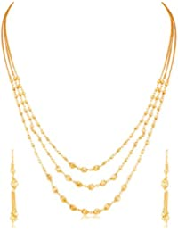 Sukkhi Jewellery Sets for Women (Golden) (N71877GLDPV092017)