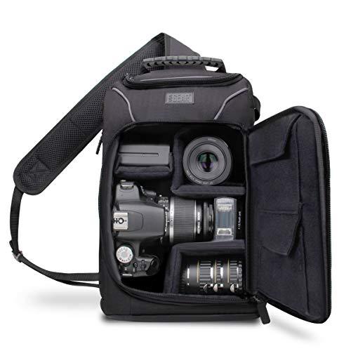 USA Gear S15 Sac à Dos Epaule Professionnel Appareil Photo Réflex avec Couverture Waterproof Incluse , Rangements Personnalisables & Port Trépied Pour Canon EOS 700D , Nikon D3300 , Pentax Et Plus