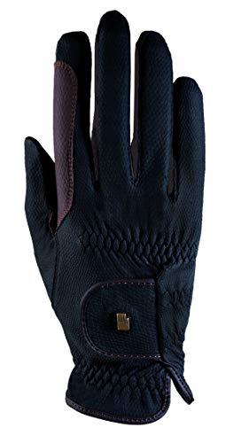 Roeckl Sports Handschuhe Malta, Unisex Reithandschuhe, Schwarz/Mokka, 7,5
