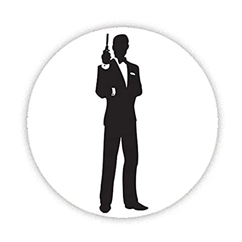 James Bond silhouette Button Badge 38mm Small Pinback Pin Back Lapel Novelty Gift