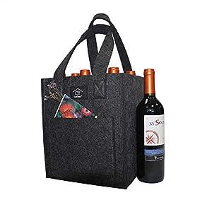 Laxllent Wein Tasche,Flaschenkorb,Flaschentasche,Bier Tasche, Geschenk Tasche für Picknick,Party,Strand Urlaub…