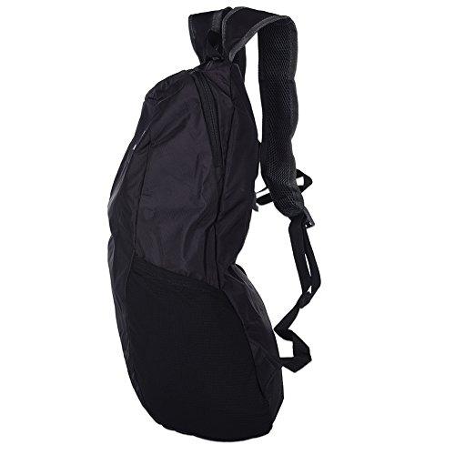 Fastar 15L unisex nylon sport all' aperto Borsa da trekking escursionismo campeggio zaino Zaino da viaggio Nero