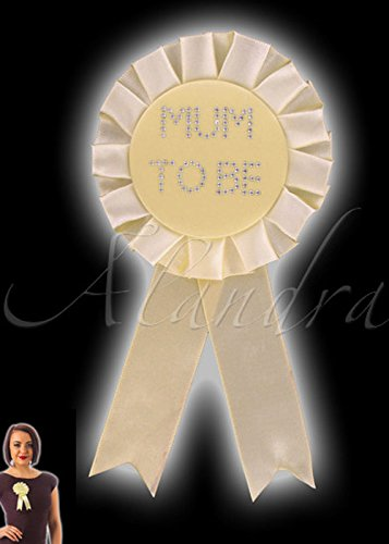 Struts Fancy Dress Baby Shower gelb Mutter Rosette Abzeichen ()