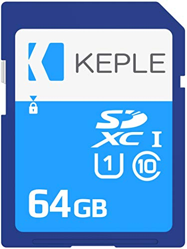 Keple 64GB SD Speicherkarte Quick Speed Speicher Karte Kompatibel mit Canon EOS M50, M100, M6, M5, 80D, 2000D, 4000D, 9000D, Rebel T7 SLR Digital Kamera | 64GB UHS-1 U1 SDXC Card Slr Canon Digital Rebel