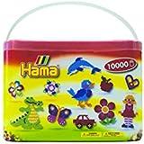 Hama - 202-67 - Loisirs Créatifs - Baril de 10000 Perles à Repasser - Taille Midi - Mix 22 couleurs