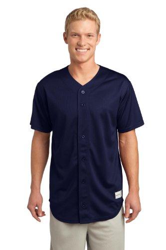 sport-tek Herren posicharge-robust Mesh-Full Button Jersey Gr. S, True Navy