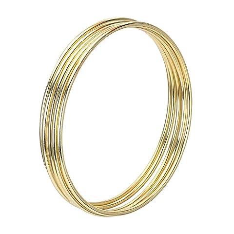 eBoot 5 Stück Golden Metall Ringe Hoops Makramee Ringe für Traumfänger und Handwerk (4 Zoll)