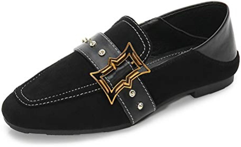 Scarpe da Donna Piselli Fondo Piatto Shallow Bocca Scarpe Casual Studente | Adatto per il colore  | Uomo/Donne Scarpa