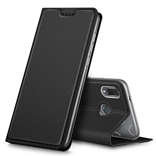 Huawei P20 lite Cover, iBetter Huawei P20 lite protettiva custodia, Funzione Stand, chiusa magnetica protettiva cover per Huawei P20 lite smartphone.Flip Series - Nero