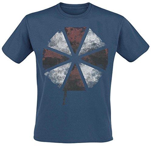 Resident Evil Distressed Umbrella T-Shirt blu scuro M