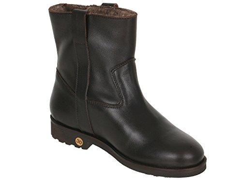 Gallucci , Chaussures bateau pour fille Braun (Dunkelbraun)